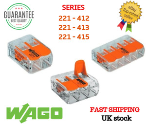 WAGO 221-412/413/415 Series Reusable Electrical Wire Cable Connectors Compact UK