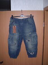 Ralph Lauren Carga Slouch Shorts Bermuda Jeans Hose blau Size 26 W30 neu