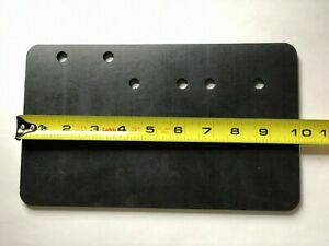 """Neoprene Rubber Sheet 1/4"""" Thick 6 x 10 inch Flexible Mounting Pad or Gasket"""