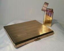 Vintage Colibri Lighter and cigarette case set   Free Shipping