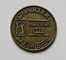 PGA TOUR Partners Club CHARTER MEMBER Coin - Golf Ball Marker - same-sided