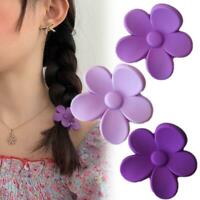 Women Purple Flower Hair Clips Hairpin Barrette Snap Fashion Hair Accessories