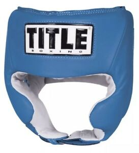 TITLE Competition Headgear Boxing Head Guard MMA Equipment Gear Golden Gloves
