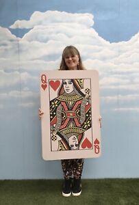 Giant MDF Playing Card Queen Hearts Wedding Casino Party Wonderland Prop WL ET
