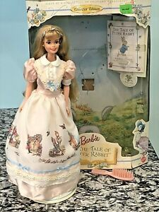 1997 Barbie and The Tale of Peter Rabbit Doll Collector Edition 19360 Opened Box