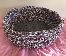 New listing Pet Bed Fleece Variate Purple