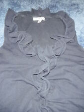 Women's CAbi Navy Blue Ruched Ruffled Sleeveless Top XS