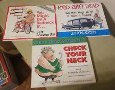 Jeff Foxworthy Paperback Redneck Joke Books Lot Of 3