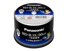 Panasonic Blu-ray BD-R Recordable DL Disk | 50GB 4x  | 50 Pack in Spindle F/S