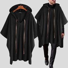Mode Herren Oberbekleidung Poncho Loose Umhang Baggy Outwear Jacken Cape Mäntel