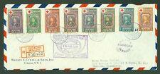 CURACAO FDC Luchtpost Censuur R-Brief 16-08-1944