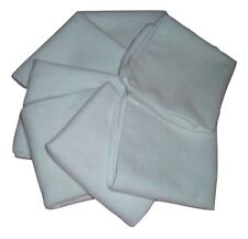 "7 Pieces of Soft Plush Microfiber Wash Cloths - 12"" By 12"" White - Antibacterial"