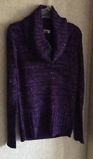 LEI Piper Turtleneck Sweater New Jr Sz L 11 13 Sequins Long Sleeve Stretch Mock