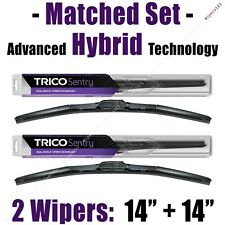 "Matched Set of 2 Hybrid Wipers 14""+14"" Trico Sentry Wiper Blades - 32-140 32-140"
