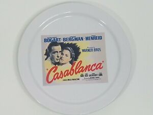 Pottery Barn x TCM Casablanca Movie Poster Salad Appetizer Plate 8.25 Inches