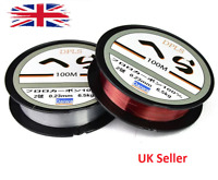 100m Crystal Fishing Line Clear Smooth Monofilament Line Spool Pond Lakes UK