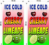 "PAIR OF 15"" X 30""  VINYL BANNERS CHERRY LIME ADE LIMEADE"
