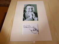 Walt Disney mounted photograph & preprint signed autograph card
