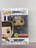 Funko Pop #449 Avengers Endgame Tony Stark Iron Man GITD Target Exclusive A02