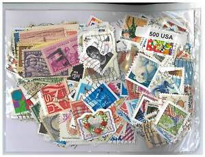 USA - 500 Different Stamps Mixed in Bag Used