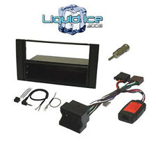 BLACK SINGLE OR DOUBLE DIN FORD FIESTA Mk6 2002 to 2008 FASCIA FULL FITTING KIT