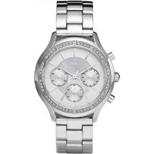 DKNY NY8251 SWAROVSKI Women's Watch Silver Chronograph