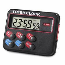 Digital Timer for Kitchen Cooking Magnetic Countdown Stopwatch Coffee Black