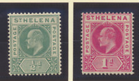 St. Helena Stamps Scott #48 To 49, Mint Hinged
