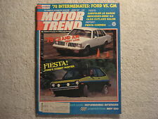 Motor Trend 1977 August Ford Fiesta Chrysler Oldsmobile Mercedes 1932 Aston