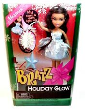 "2012 Bratz Holiday Glow Christmas Yasmin 10"" Fashion Doll with Ornament!"