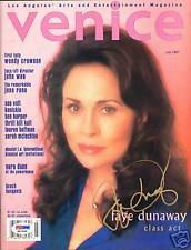 Faye Dunaway Signed Auto'd Venice Magazine PSA/DNA COA