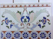 Traditional Spanish Sevilliana wall tile border C24 only £1.20 each.