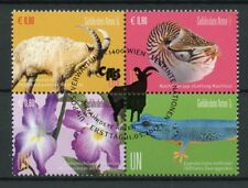 United Nations UN Vienna 2017 CTO Endangered Species 4v Block Flowers Stamps