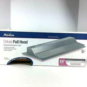 Aqueon Deluxe Fluorescent  Full Hood Aquarium Light  Brown 24 inches