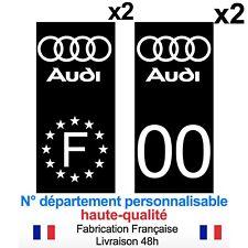 Stickers autocollant plaque d'immatriculation AUDI voiture Fond noir NOIR