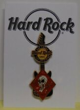 Hard Rock Cafe Pin Diamond Guitar with Skull Las Vegas at H R Hotel-2010 Le300