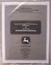 JOHN DEERE OPERATOR'S MANUAL QUICK HITCH BROOM FOR X400/X500 & X700 SERIES 60