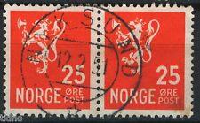 Norway 1946-49, NK 355 Pair Son Nyksund 12-2-1951 (NO)