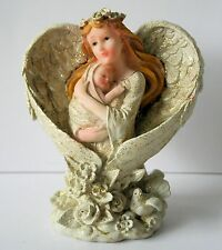 Angel with Baby figurine Statue with Sparkles Resin  New