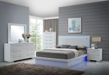 New Classic Furniture Sapphire Lighted 6 Piece Queen Bedroom Set