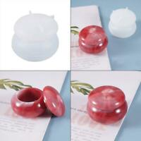 DIY Crafts Crystal Epoxy Resin Mold Rouge Lipstick Jar Casting Silicone Mould