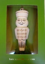 "Kate Spade Lenox Woodland Park Nutcracker Ornament 4.25"" - New in Box"