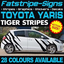 Toyota Yaris Tiger Stripes Graphique Stickers Autocollants TRD XP10 XP90 XP130 XP150