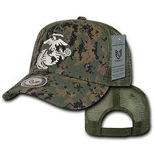 Camo United States US Marines Corps USMC Marine Baseball Mesh Trucker Cap Hat