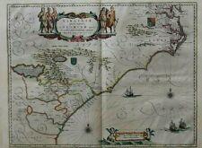Map Willem Blaeu virginiae floridae Virginia Florida