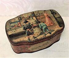 Rare Antique French Tin Box L Antoine Lils Writing Ink Paris c 1900 Carnaud