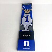 STANCE Duke University Blue Devil Mascot Men's Crew Socks Shoe 9-12 Large NWT