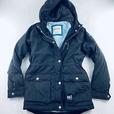 Abercrombie Kids A&F 1892 Black Hoodie Puff Jacket Coat Size 11/12