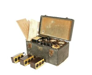 1930's Hickock AC-47 Tube Tester w/Plug-In Modules & Paperwork * Historic Tester