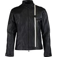 "JAGUAR Heritage Men's Black Leather Biker Jacket, size S  [37""-39"" chest]"